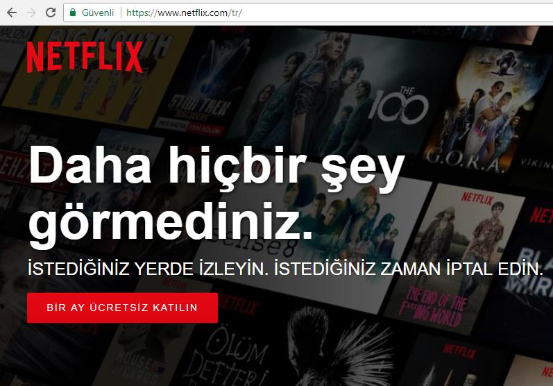 Netflix bedava üyelik