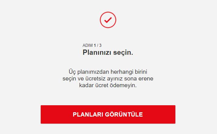 Planınızı seçin