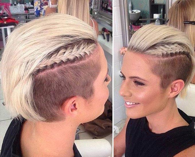 Örgülü kadın saç modeli